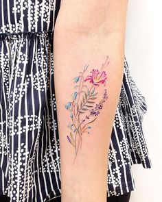 Nice color tattoo art of Plants and Flowers motive done by Will Bloom Tattoo - Tattoo Tattoos Motive, Body Art Tattoos, New Tattoos, Tattoo Art, Tatoos, Lotus Tattoo, Colorful Flower Tattoo, Flower Tattoo Designs, Tattoo Flowers