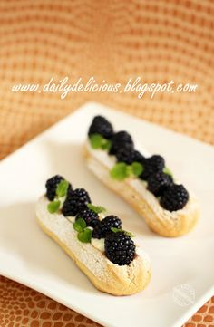Blueberry eclair dailydelicious