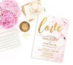 Love Wedding Invitation Modern Invitation Printable Wedding