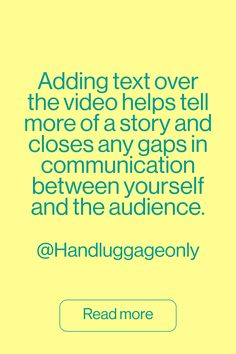 Find out more about how Hand Luggage Only tailors their video content to Pinterest and the importance of adding text overlay.