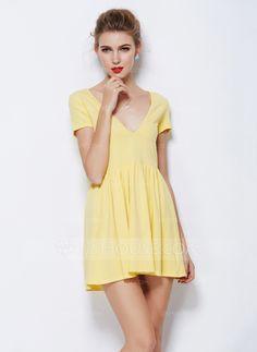 [US$ 16.99] Polyester/Cotton Mini Dress (199087176)
