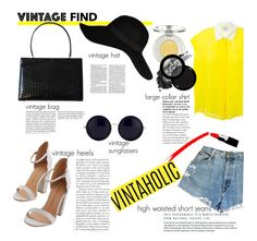 """VintageLook"" by silvia-f-alex ❤ liked on Polyvore featuring ASOS, Chinese Laundry, Forte Forte, Vintage, Victoria Beckham, River Island, The Row, Sue Devitt, Lulu Guinness and Paula Dorf"