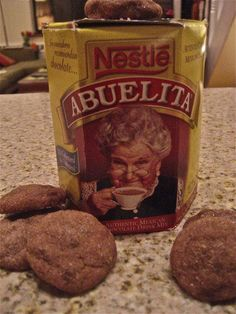 Mexican Hot Chocolate Cookies made with Abuelita- @tiffanybelcher this makes me want to hang out in your apt in Caldwell and watch several seasons of 24 :)