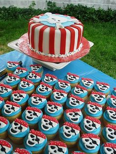 pirate birthday cake | pirate, birthday, party, cake, cupcakes, The Sweet Tooth Fairy Bake ...