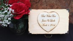 Rustic Wooden Box  Advice Box or Wishes Box with by TheSmilinBride, $54.99
