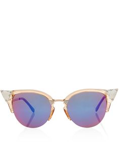 Fendi Pink Iridia Acetate Sunglasses | Accessories | Liberty.co.uk