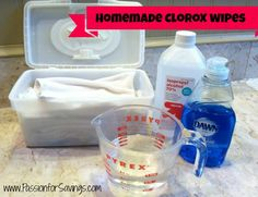 Homemade Clorox Wipes Just did a batch and I am trying them out so far I love them! It is way cheaper than buying them and I get to reuse them. How to Make Your own Homemade Clorox Wipes (Without Using Bleach! Homemade Cleaning Supplies, Household Cleaning Tips, Cleaning Recipes, House Cleaning Tips, Cleaning Hacks, Diy Hacks, Diy Cleaning Wipes, Household Cleaners, Cleaning Schedules