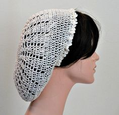 Your place to buy and sell all things handmade Diy Crochet Hairstyles, Crochet Hair Styles, Slouchy Beanie Hats, Beret, Crochet Snood, Gypsy Wedding, Victorian Costume, Look Vintage, Sweater Making