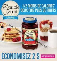 Coupons et Circulaires: 2$ sur DOUBLE FRUIT