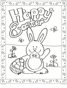 Free Easter Colouring Pages | Easter colouring, Happy easter and Easter
