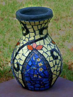 Oriental mosaic vase