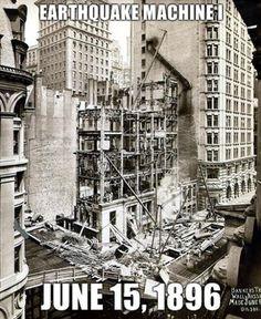 Nikola Tesla Earthquake Machine | Earthquake Machine I - The Gillender Building caused a Tsunami in ...