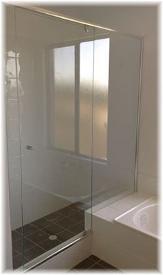 This is such a simple design for a glass shower door, but it's so versatile! Think about it: once you install this, you can do whatever else you like with the bathroom and the shower door still works. One more reason why glass is a good option.