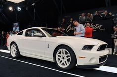 Barrett-Jackson: Custom White Shelby GT500 Brings in $150K for Ford Heart and Vascular Institute #Mustang #Charity