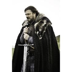 Game of Thrones S1E1: Sean Bean as Lord Eddard 'Ned' Stark – Lord of Winterfell, Lord Paramount of the North, and Warden of the North. And later, Hand of the King for Robert Baratheon.
