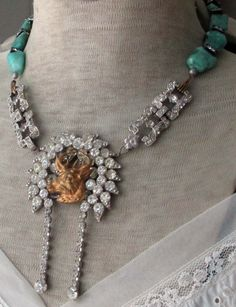 'forest friends' vintage assemblage necklace by The French Circus, $185.00