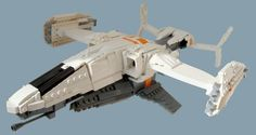 Hawk Dropship from Destiny. Why is it so pixellated? Because it's made of LEGO.