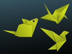 30 Beautiful Examples Of Easy Origami Animals Instruções Origami, Origami Mouse, Origami Yoda, Origami Star Box, Origami Dragon, Origami Fish, Origami Design, Easy Origami Animals, Easy Origami For Kids