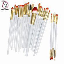 Fabricantes de profissional 20 pcs maquiagem escova ferramentas Make Up Kit de higiene pessoal lã marca maquiagem escova pincel maleta de maquiagem(China (Mainland))