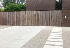 paving set within gravel pale contemporary driveway