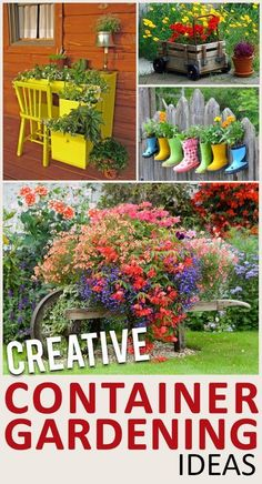 Unique Ways to Use Potted Plants- Great ideas, tips and projects for container gardening.