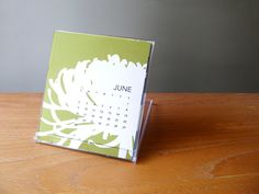 2013 Desk Calendar with Display Stand by modernarteveryday on Etsy, $16.00
