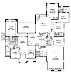 Level 1 floor plans pinterest house plans ranch for 3 car garage cost per square foot