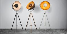 Chicago Floor Lamp, Antique Copper and Gold   made.com