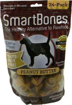 DOG TREATS - ALL OTHER - SMARTBONES PEANUT BUTTER MINI - 24 PACK