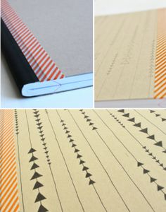 Love the look of designer notebooks, but not the price? Check out these DIY designer notebooks by Monica at Our Designed Life, and see how she made her Diy Paper, Paper Crafts, Diy Crafts, Cute Notebooks, Journals, Diy Notebook, Notebook Covers, Diy Home Decor Projects, House Projects