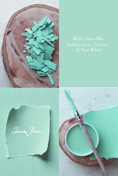 A stunning, minty blue paint colour mix by Annie Sloan