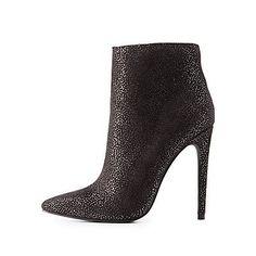 b9f77c31 Black Shimmer Faux Suede Dress Booties - Size 7 Zapatos, Botines De  Tobillo, Jefe