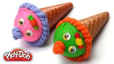 playing & making intrusting play doh ice cream cone for kids  its an amazing play doh cone ice cream tutorials for kids
