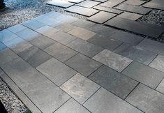 Tiles Kavalas Slate (sawn cut)   Akrolithos Outdoor Tiles, Outdoor Areas, Thasos, Crazy Paving, French Pattern, Flat Rock, House Information, Garden Steps, Grey Tiles