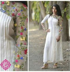 pinterest @Nk Pakistani Dresses, Indian Dresses, Indian Outfits, Kurti Patterns, Dress Patterns, Salwar Designs, Blouse Designs, Simple Dresses, Casual Dresses