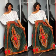 Dashiki Maxi  Skirt by THEAFRICANSHOP on Etsy, £40.00