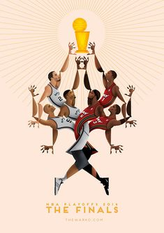 weandthecolor:  NBA Playoffs 2014 – Illustration by Davide Barco Italian…