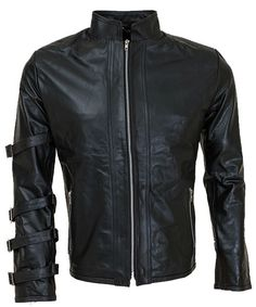 SleekHides Mens Fashion Brando Style Slim Fit Leather Jacket