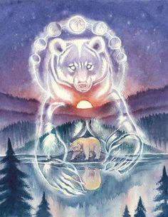 тотемный медведь: 2 тыс изображений найдено в Яндекс.Картинках Bear Spirit Animal, Spirit Bear, Animal Spirit Guides, Native American Artwork, American Indian Art, Native American Astrology, Arte Haida, Bear Totem, Bear Tattoos