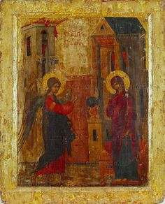 The Annunciation      16th century   icon, Byzantine