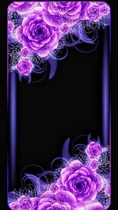 By Artist Unknown. Rose Flower Wallpaper, Purple Wallpaper, Butterfly Wallpaper, Flower Backgrounds, Galaxy Wallpaper, Beautiful Wallpaper For Phone, Heart Wallpaper, Cellphone Wallpaper, Pretty Wallpapers