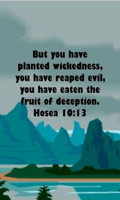 Hosea 10:13