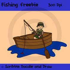 Fishing clip art freebie