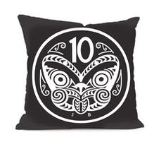 Full colour, double sided polyester print cushion cover, suitable for indoor and outdoor use. Kiwiana, Printed Cushions, Rock Style, Cushion Covers, Vintage Prints, New Homes, Throw Pillows, Pattern, Fashion Rocks