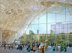 Market and Civic Offices by MVRDV adumbrates ''nude structure''