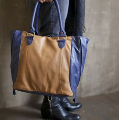 Looptworks leather tote made from Southwest Airlines leather. We are so fitting a laptop in this beauty..