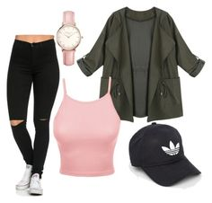 """""""Baddie #4"""" by mysansbeauty on Polyvore featuring LE3NO, adidas and Topshop"""