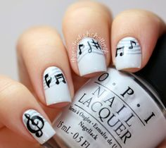 Love the notes!  the nail polish challenge: 31DNAC Day 7: Black & White Nails