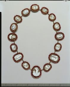 Cameo necklace, early 19th century   In the Swan's Shadow