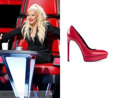 The Voice: Season 10 Episode 1 Christina's Red Pumps